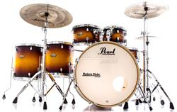 "Bateria Pearl Decade Maple Classic Satin Amburst 22"",10"",12"",14"",16"" com Kit de Ferragens 830"