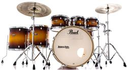 "Bateria Pearl Decade Maple Classic Satin Amburst 22"",8"",10"",12"",14"",16"" com Kit de Ferragens 830"