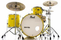 "Bateria Pearl Decade Maple Rock Classic Solid Yellow Bumbo 24"", Tom 13"" e Surdo 16"" (Shell Pack)"