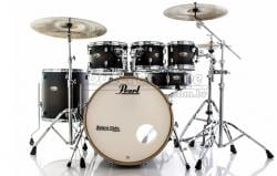 "Bateria Pearl Decade Maple Satin Black Burst 20"",8"",10"",12"",14"" com Kit Ferragens 830"