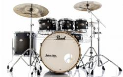 "Bateria Pearl Decade Maple Satin Black Burst 22"",8"",10"",12"",16"" com Kit Ferragens 830"