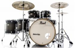 "Bateria Pearl Decade Maple Satin Black Burst 22"",10"",12"",14"",16"" com Kit Ferragens 830"