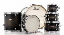 "Bateria Pearl Decade Maple Satin Black Burst 22"",8"",10"",12"",16"" com Caixa (Shell Pack)"