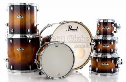 """Bateria Pearl Export EXL Lacquer Gloss Tobbaco Burst 22"""",8"""",10"""",12"""",14"""",16"""" (Shell Pack)"""