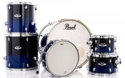 """Bateria Pearl Export EXL Lacquer Sea Blue Fade 20"""",10"""",12"""",14"""",16"""" (Shell Pack)"""