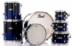 """Bateria Pearl Export EXL Lacquer Sea Blue Fade 22"""",8"""",10"""",12"""",14"""",16"""" (Shell Pack)"""