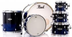 "Bateria Pearl Export EXL Lacquer Sea Blue Fade 22"",8"",10"",12"",16"" (Shell Pack)"