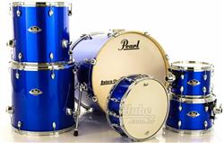 "Bateria Pearl Export EXX Series Mahogany High Voltage Blue 22"",10"",12"",14"",16"" (Shell Pack)"