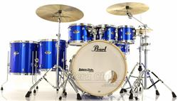 "Bateria Pearl Export EXX Series Mahogany High Voltage Blue 22"",8"",10"",12"",14"",16"" + Ferragens 830"