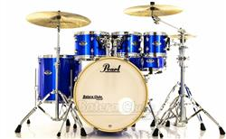 "Bateria Pearl Export EXX Series Mahogany High Voltage Blue 22"",8"",10"",12"",16"" + Ferragens 830"