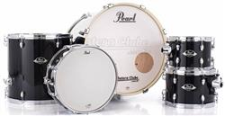 "Bateria Pearl Export EXX Series Mahogany Jet Black 22"",10"",12"",16"" (Shell Pack)"
