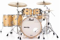 """Bateria Pearl Masters MCT Maple Complete Satin Natural 22"""",10"""",12"""",14"""",16"""" Thin Shells"""