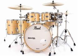 "Bateria Pearl Masters MCT Maple Complete Satin Natural 22"",8"",10"",12"",14"",16"" Thin Shells"