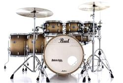 "Bateria Pearl Masters MCT Maple Complete Satin Natural Burst 22"",8"",10"",12"",14"",16"" Thin Shells"