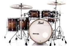 """Bateria Pearl Session Studio Select Barnwood Brown 22"""",8"""",10"""",12"""",14"""",16"""" (Shell Pack) Mogno e Birch"""