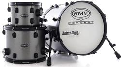 "Bateria RMV Concept Jazz Fiber Shell Grafitti Sparkle com Bumbo 18"", Tom 10"", Surdo 14"" (Shell Pack)"