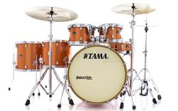 "Bateria Tama Silverstar Birch Bright Orange Sparkle 22"",10"",12"",14"",16"" com Caixa 14x5"" (Shell Pack)"