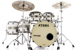 "Bateria Tama Starclassic Maple Silver Snow Racing Stripe Sparkle 22"",10"",12"",14"",16"" Black Nickel"