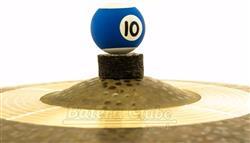 Borboleta Tribal Percussion Bola de Sinuca nº 10 Azul para Estantes de Prato 8mm Kit com 1 Unidade