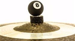 Borboleta Tribal Percussion Bola de Sinuca nº 08 Preta para Estantes de Prato 8mm Kit com 1 Unidade