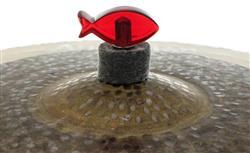 Borboleta Tribal Percussion Peixe Vermelho para Estantes de Prato 8mm Kit com 2 Unidades