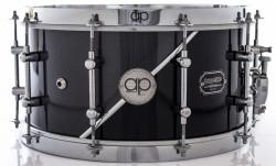 "Caixa AP Drums Inox Black Steel Chrome Stripe 14x7"" Limited com Aros High Hoop Vintage 2.7mm"