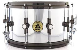 "Caixa DDrum Signature Vinnie Paul Maple Alder Chrome 14x8"" com Aros Die-Cast e Automático Dunnett"
