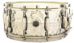 "Caixa Gretsch Brooklyn Chrome Over Brass Hammered Shell 14x6,5"" Made USA"