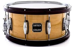 "Caixa Gretsch Full Range Maple Wood-Metal Hoop Natural Gloss 14x6,5"" com Aros de Madeira e Metal"