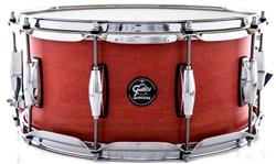 "Caixa Gretsch Marquee Maple Series Satin Red Coral 14x6,5"" Casco Top e Aros PowerHoop 2.3mm"