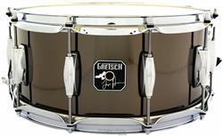 "Caixa Gretsch Signature Taylor Hawkins 14x6,5"" Nickel Steel com Aros PowerHoop 2.3mm (Foo Fighters)"