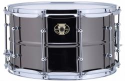 "Caixa Ludwig Black Magic Brass Shell 14x8"" Black Nickel LW0814C com Aros Power Hoop"