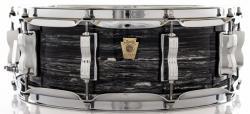 """Caixa Ludwig Classic Maple Black Oyster 14x5"""" com Automático Millennium P88AC Made USA Beatles"""