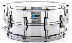 "Caixa Ludwig Supraphonic LM402 John Bonham 14x6,5"" Blue Olive Badge Made in USA"