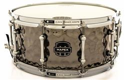 "Caixa Mapex Armory Daisy Cutter Black Nickel Hammered Steel 14x6,5"" Aros Power Hoop"
