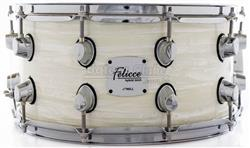 "Caixa Nell Felicce Series Hybrid Birch White Marine 14x7"" com Aros Power-Hoop 2.3mm"