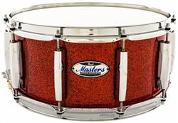 """Caixa Pearl Masters Maple Complete Vermillion Sparkle 14x6,5"""" Thin Shell EvenPly-Six"""