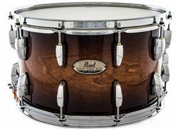 """Caixa Pearl Session Studio Select Gloss Barnwood Brown 14x8"""" Casco Fino Híbrido em Mogno e Birch"""