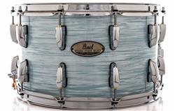 """Caixa Pearl Session Studio Select Ice Blue Oyster 14x8"""" Casco Fino Híbrido em Mogno e Birch"""