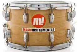 "Caixa PHX Music Instrumentos Basswood Natural 580-PVC-MA 14x8"" Ballad Snare"