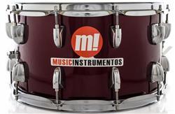 "Caixa PHX Music Instrumentos Basswood Wine 580-PVC-VI 14x8"" Ballad Snare"