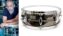 "Caixa Tama Signature João Barone JBR1455 Black Nickel Steel 14x5,5"" com Aro Die-Cast Superior"