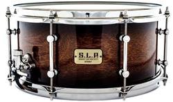 "Caixa Tama S.L.P. Sound Lab Project Dynamic Kapur Black Burst 14x6,5"" Aros Sound Arc e Casco Fino"