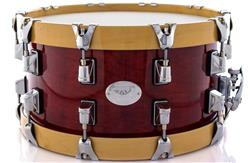 "Caixa Taye Studio Birch Autumn Red 14x7"" com Aros Wood Hoop 14-Ply"