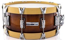 "Caixa Taye Studio Maple Java Burst 14x6"" com Aros Wood Hoop 14-Ply"