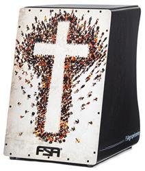 Cajón FSA Gospel Series Cruz FG1506 com Dupla Captação Ativa e Assento em E.V.A.