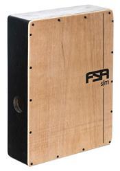 Cajón FSA Slim Series CSL601 Preto Elétrico Compacto com Excelente Sonoridade