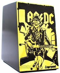 Cajón Mini Liverpool AC/DC CAJ-ACDC Compacto com 20cm de Altura (Crianças ou Adultos)