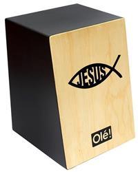 Cajón Olé Inclinado Peixe Jesus OL125A Acústico e Esteira 18 Fios