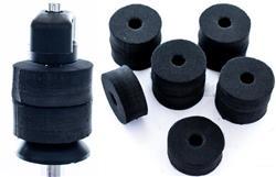 Feltros Rubber Wheel Kit com 10 Feltros (Preto) para Estante de Prato com 15mm de Espessura